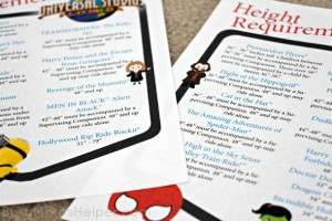 Universal Studios Florida Printable Height Requirements / by Busy Mom's Helper
