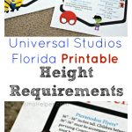 Universal Studios Florida Printable Height Requirements