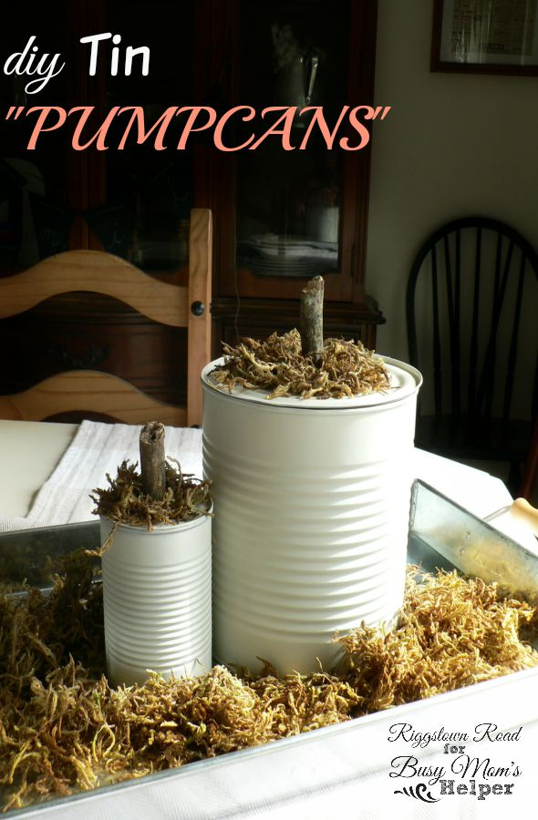 Tin Pumpcans by RiggstownRoad for Busy Mom's Helper
