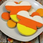 Candy Corn Mickey Mouse Cookies