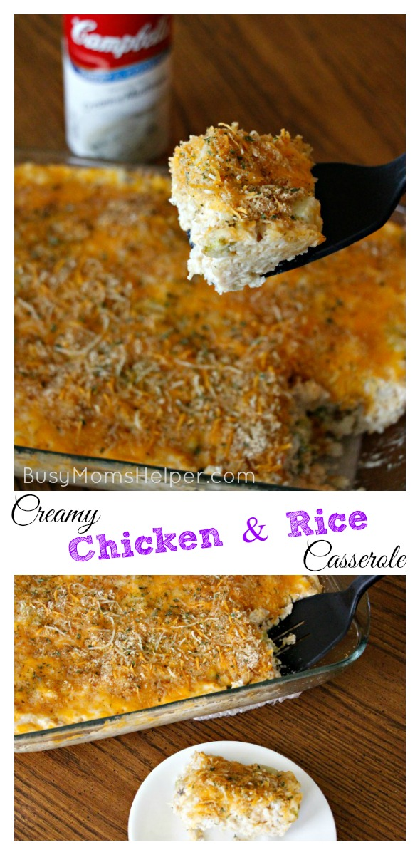 Creamy Chicken & Rice Casserole / by BusMomsHelper.com #RecipeTwist #ad