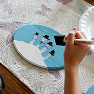 Snowman Fingerprint Craft and Gift