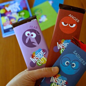 Inside Out Candy Bar Wrappers
