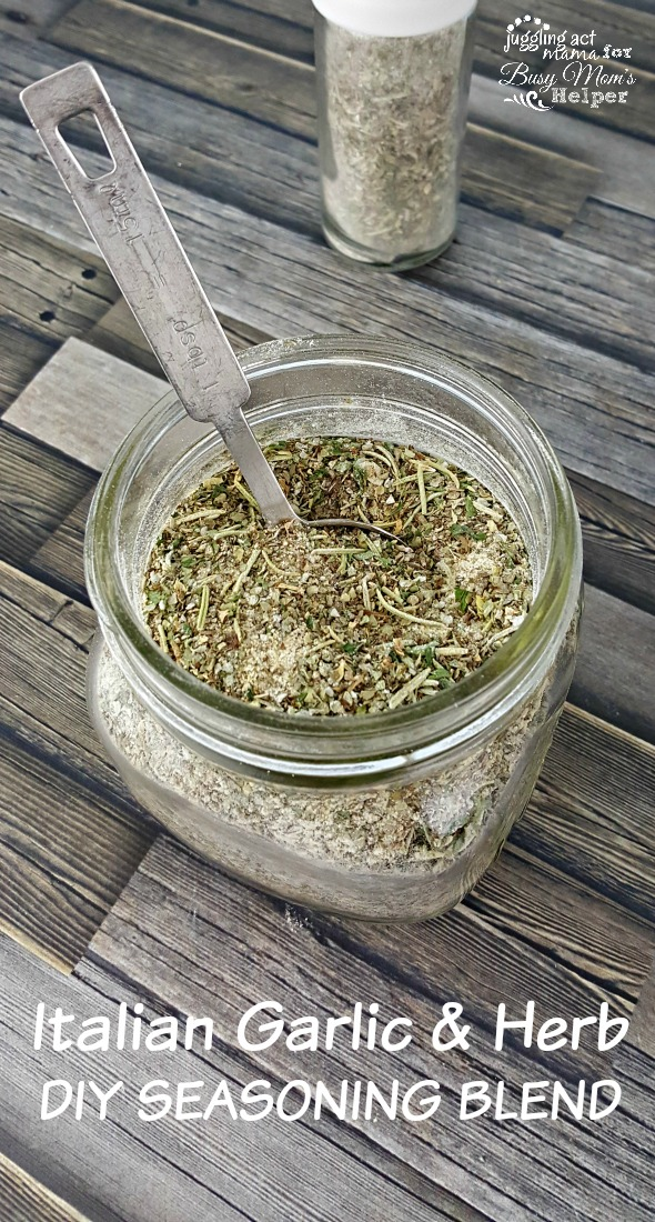 Italian Garlic & Herb DIY SEASONING BLEND