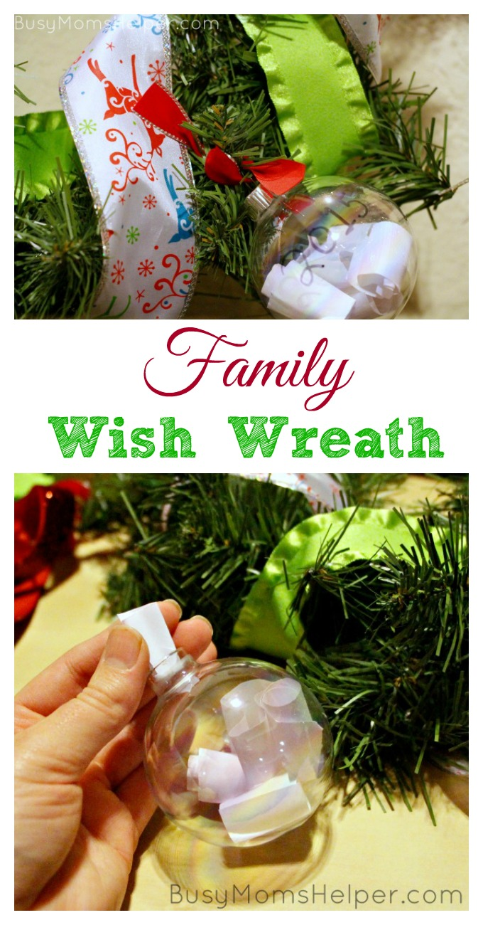 Family Wish Wreath / by BusyMomsHelper.com for SeeVanessaCraft.com / 20 Crafty Days of Christmas