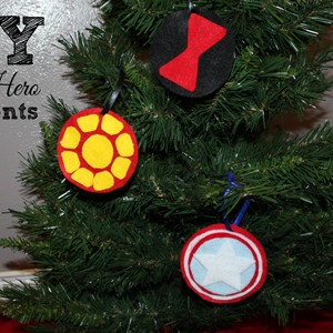 DiY Super Hero Ornaments