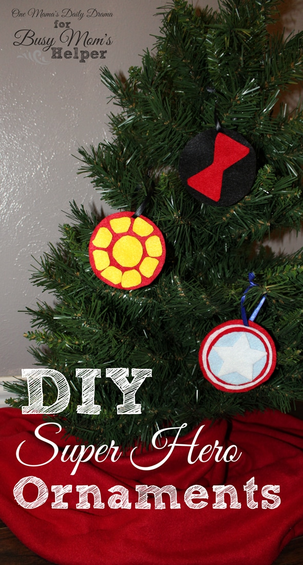 DiY Super Hero Ornaments   One Mama's Daily Drama for Busy Mom's Helper