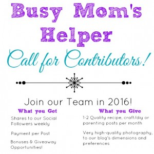 Join the Busy Mom's Helper 2016 Team!