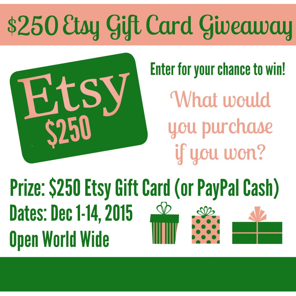 $250 Etsy Gift Card Giveaway / joined by BusyMomsHelper.com