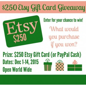 $250 Etsy Gift Card Giveaway!