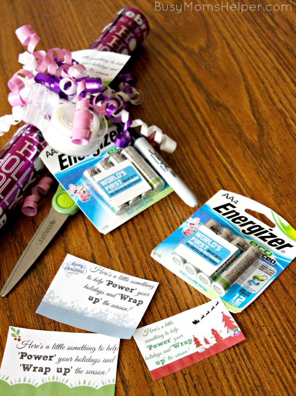 Holiday Survival Kit Gift Idea with Free Printables / by BusyMomsHelper.com #PowerYourHoliday #ad