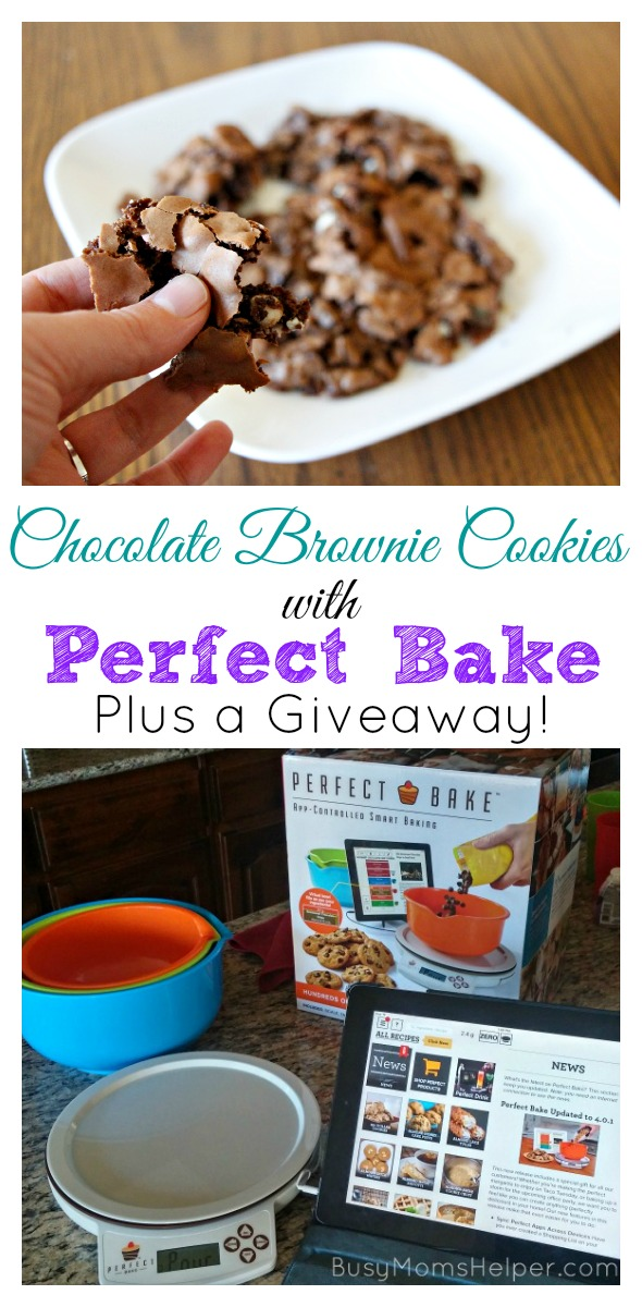 Chocolate Brownie Cookies with Perfect Bake PLUS a Giveaway / by BusyMomsHelper.com #ad #PerfectBake @PerfectBakeApp