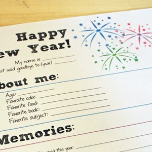 New Year's Eve Printable for Kids