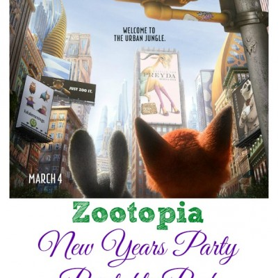 Zootopia New Years Party Printable Pack / BusyMomsHelper.com