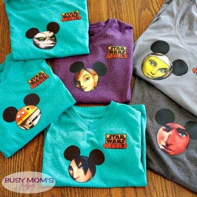 DIY Star Wars Rebels Shirts / by BusyMomsHelper.com / Heat Transfer Shirts / Iron Transfer Shirts