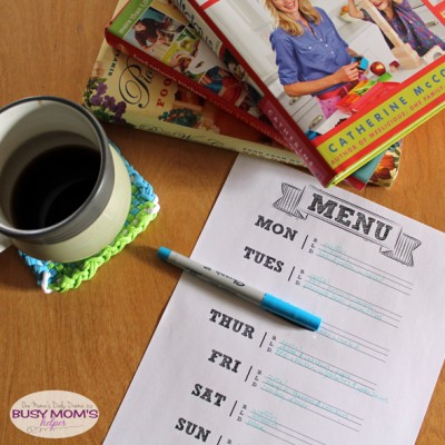 Printable Menu Planner | One Mama's Daily Drama for Busy Mom's Helper