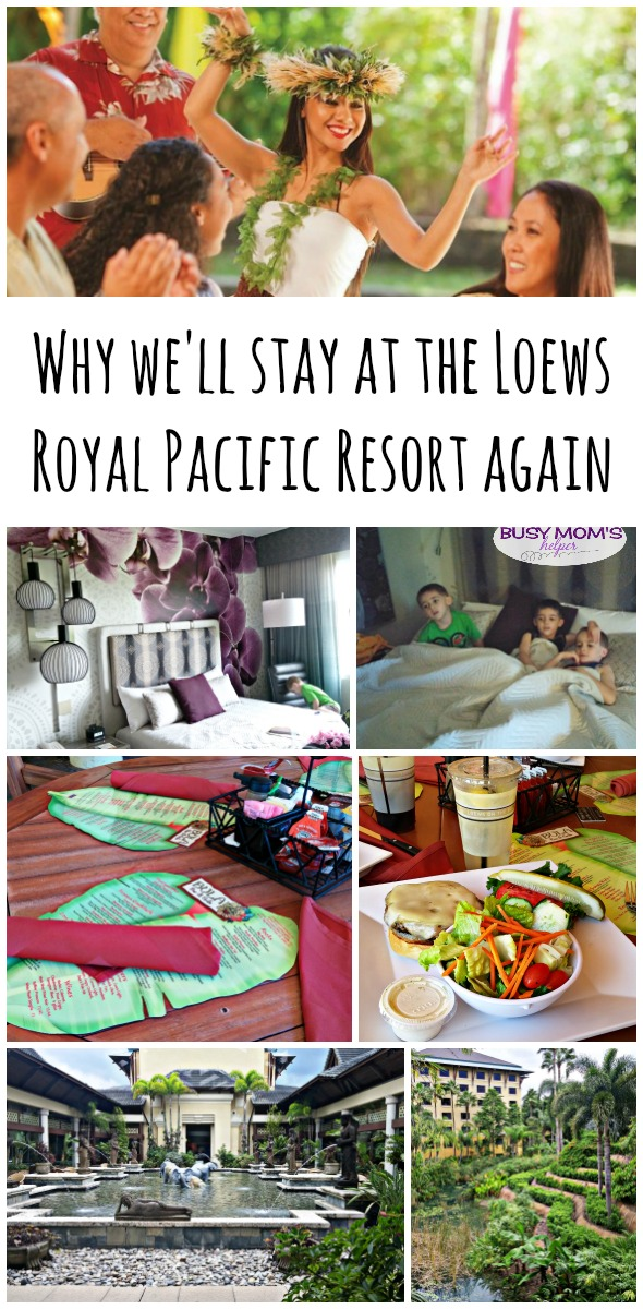 Why We'll Stay at Loews Royal Pacific Resort Florida Again / by BusyMomsHelper.com / Travel with kids / Family Travel