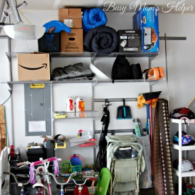 Budget Friendly Garage Organization from the Container Store / by BusyMomsHelper.com