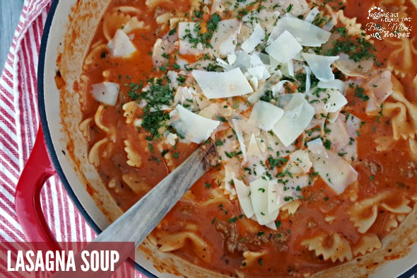 This is Lasagna Soup the ultimate comfort food