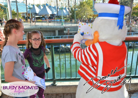 No more boring lines at Disneyland - grab our 2016 'Unofficial' Disneyland Activity & Autograph book to keep the kids happily entertained! Donald Duck Autograph Page