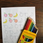 Printable fruit coloring page for kids & adults