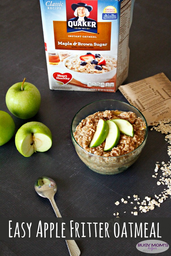 Apple Fritter Oatmeal / by BusyMomsHelper.com / Easy Breakfast Recipe #BringYourBestBowl #Walmart #ad