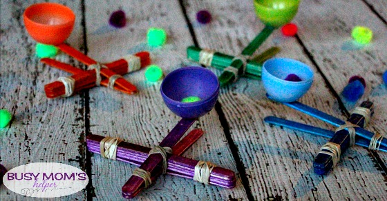 Craft Stick Catapult / by BusyMomsHelper.com / a great busy activity for kids / super easy kids craft project!