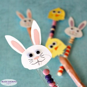 Fun Easter Treat Tubes with Printable Stencils
