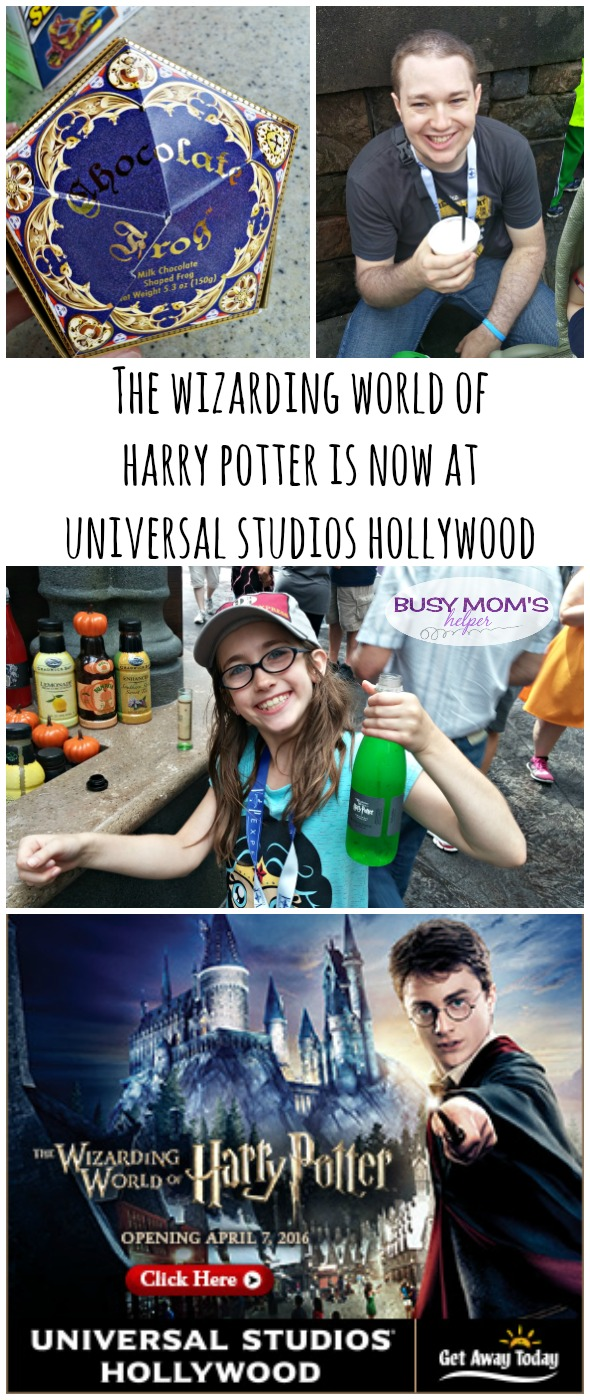The Wizarding World of Harry Potter is now at Universal Studios Hollywood / by BusyMomsHelper.com / Harry Potter World California