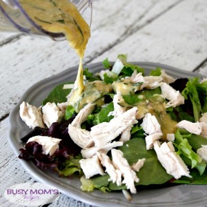 Healthier Lemon Rosemary Dressing / a healthier salad dressing / by BusyMomsHelper.com for CarrieElle.com