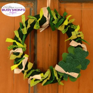 St Patrick's Day Ribbon Wreath