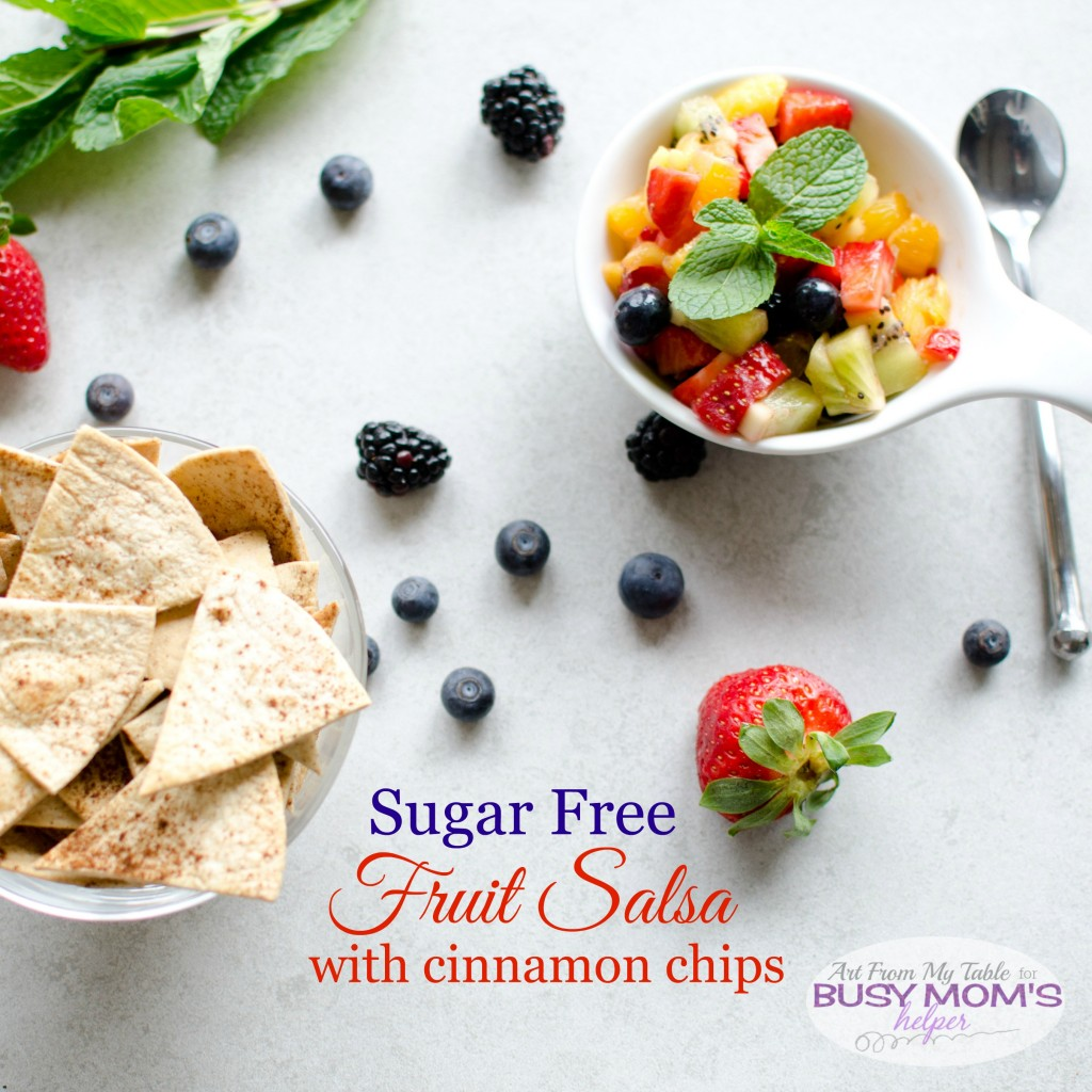 sugar free fruit salsa with cinnamon chips