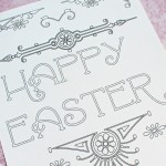Printable Easter Art Coloring Page
