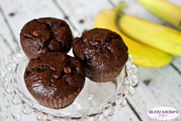 Chocolate Banana Muffins / by BusyMomsHelper.com / A delicious and easy breakfast recipe!