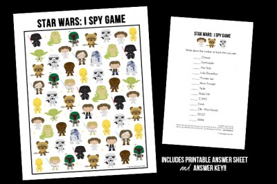 Snatch up this fun and FREE Star Wars Game! I Spy Star Wars Printable. May the force be with you! livelaughrowe.com