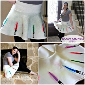 DIY Star Wars Lightsaber Skirt