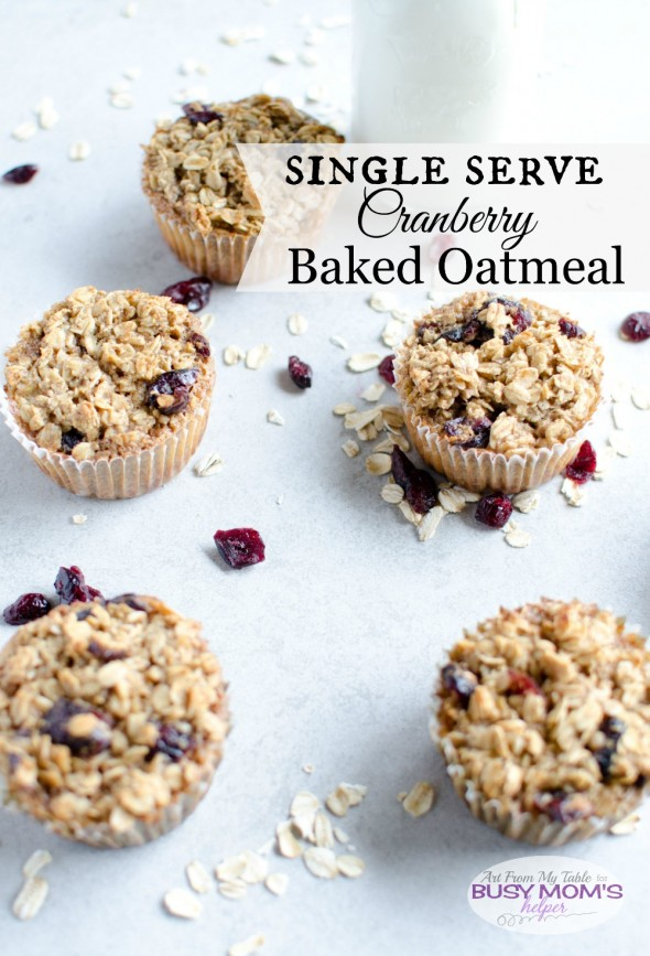 single serve cranberry baked oatmeal