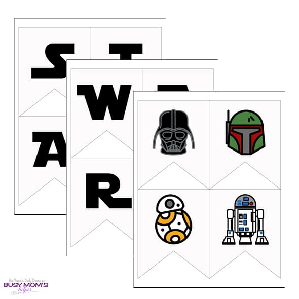 Printable Star Wars Banner {full alphabet + icons} - Busy