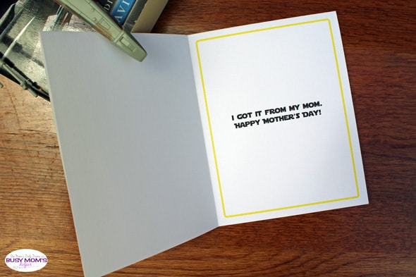 Printable Star Wars Mother's Day card   One Mama's Daily Drama for Busy Mom's Helper