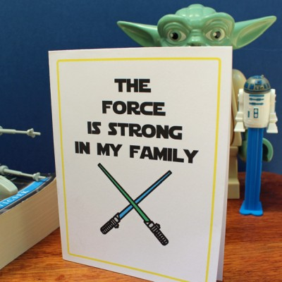 Printable Star Wars Mother's Day Card