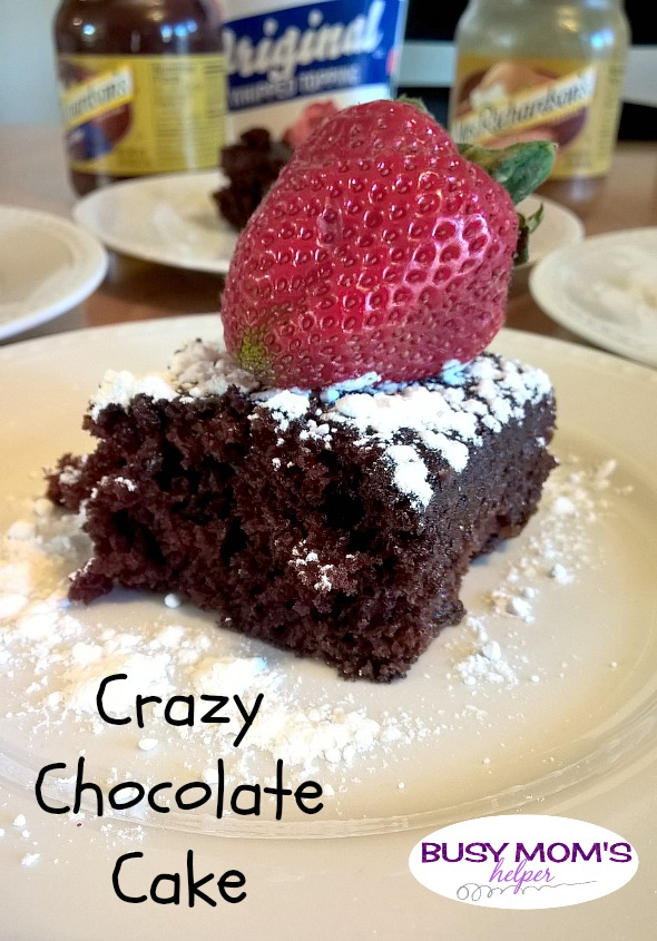 Crazy Chocolate Cake by Nikki Christiansen for Busy Mom's Helper