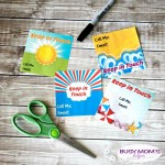 Summer Break Keep in Touch Printables for School Kids