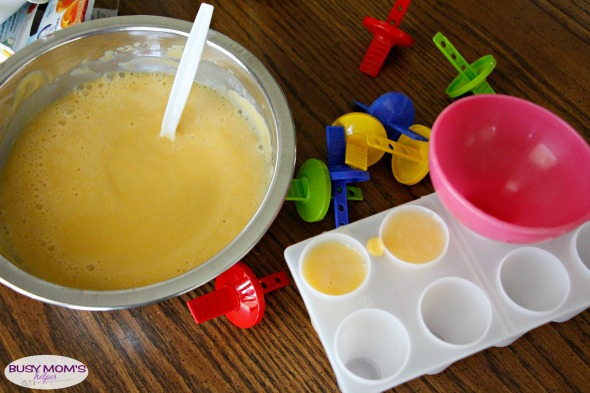 Fruit & Yogurt Homemade Popsicles using Leftover Baby Food