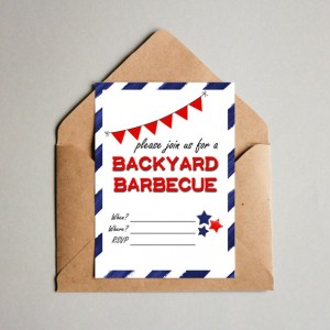 Printable Backyard Barbecue Invitation