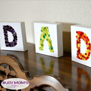 Button Art Dad Gift