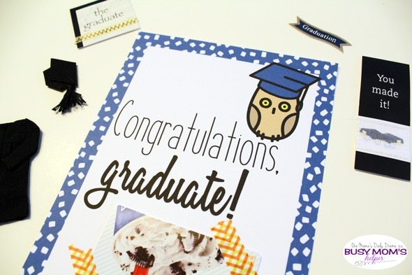 Printable graduation gift card holder | One Mama's Daily Drama for Busy Mom's Helper
