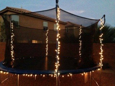 lighted trampoline summer kids activity