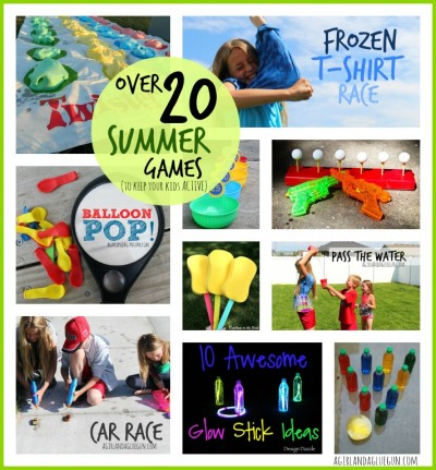 over 20 outdoor summer games to keep your kids active