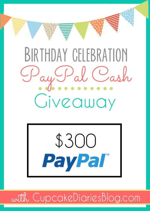 Win PayPal Cash with Cupcake Diaries