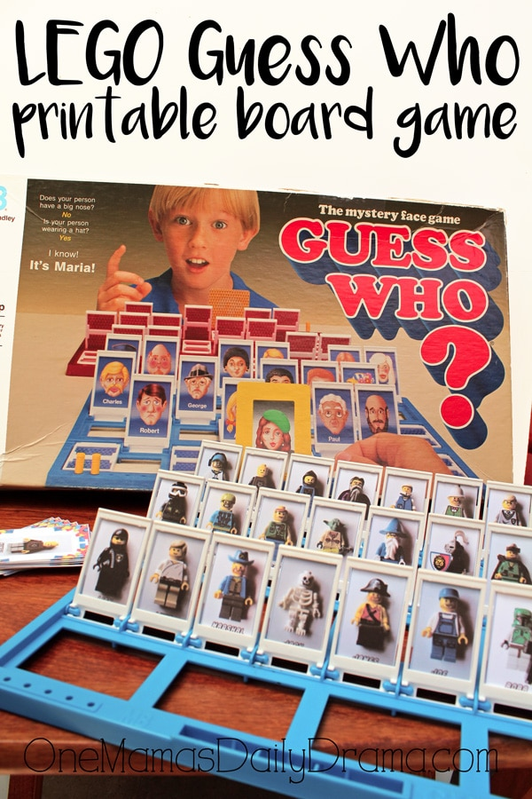 LEGO Guess Who printable board game by OneMamasDailyDrama.com
